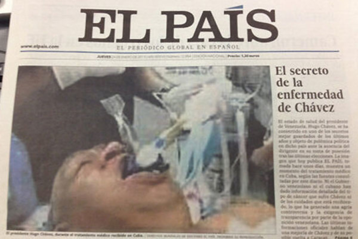 Γκάφα ολκής της El Pais με ψεύτικη φωτό του Τσάβες! | Newsit.gr