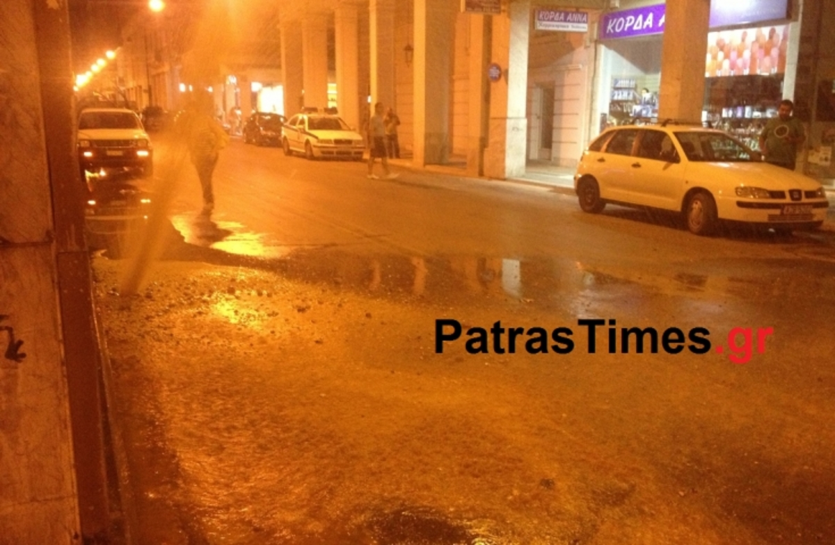 Πίδακας νερού 20 μέτρων στο κέντρο της Πάτρας – Video   Newsit.gr