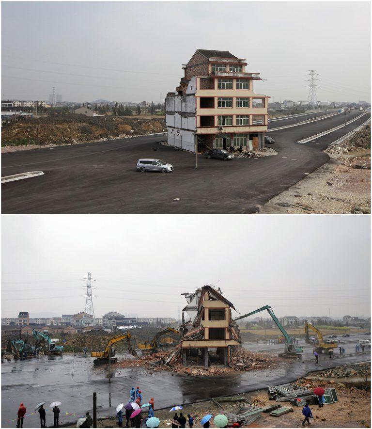 Κατεδαφίστηκε το σπίτι σύμβολο – αντίστασης στην Κίνα! – ΦΩΤΟ | Newsit.gr