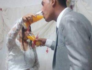 Λάρισα: Γαμπρός και νύφη συγκίνησαν και αναπτέρωσαν το ηθικό των καλεσμένων τους [pics]