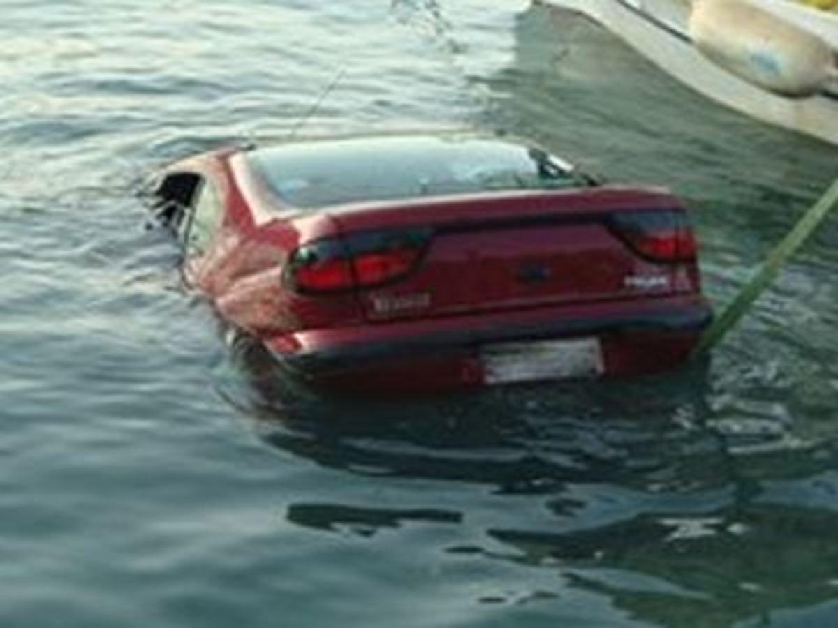 Υγρός τάφος αυτοκίνητο στη Θάσο   Newsit.gr