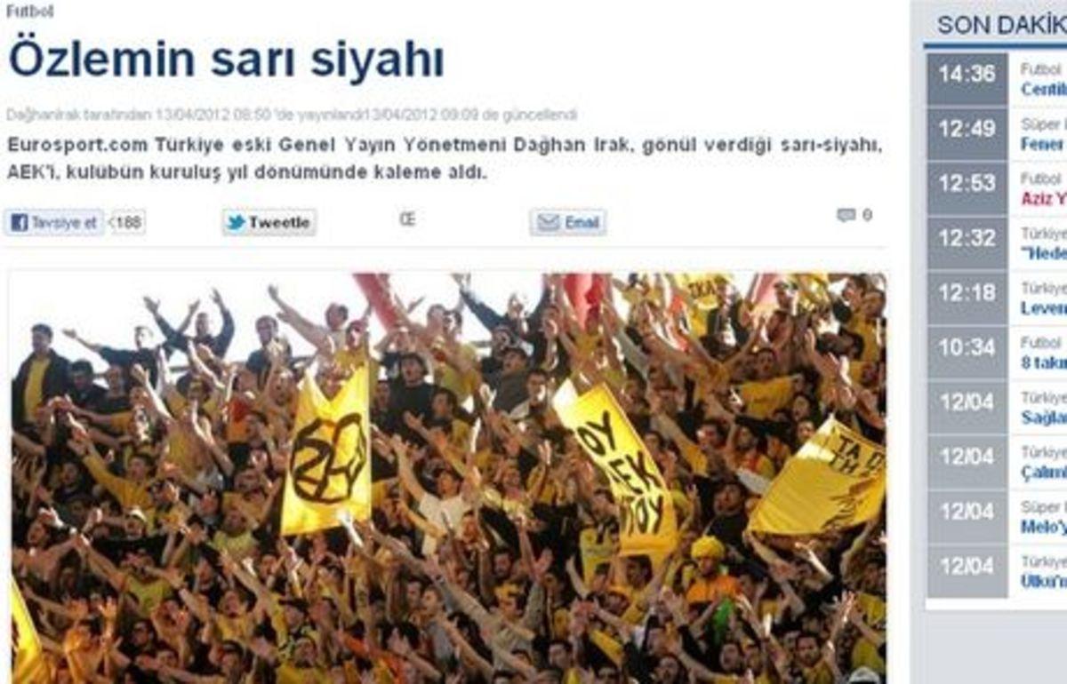 Συγκλονιστικό άρθρο Τούρκου για τα γενέθλια της ΑΕΚ! | Newsit.gr