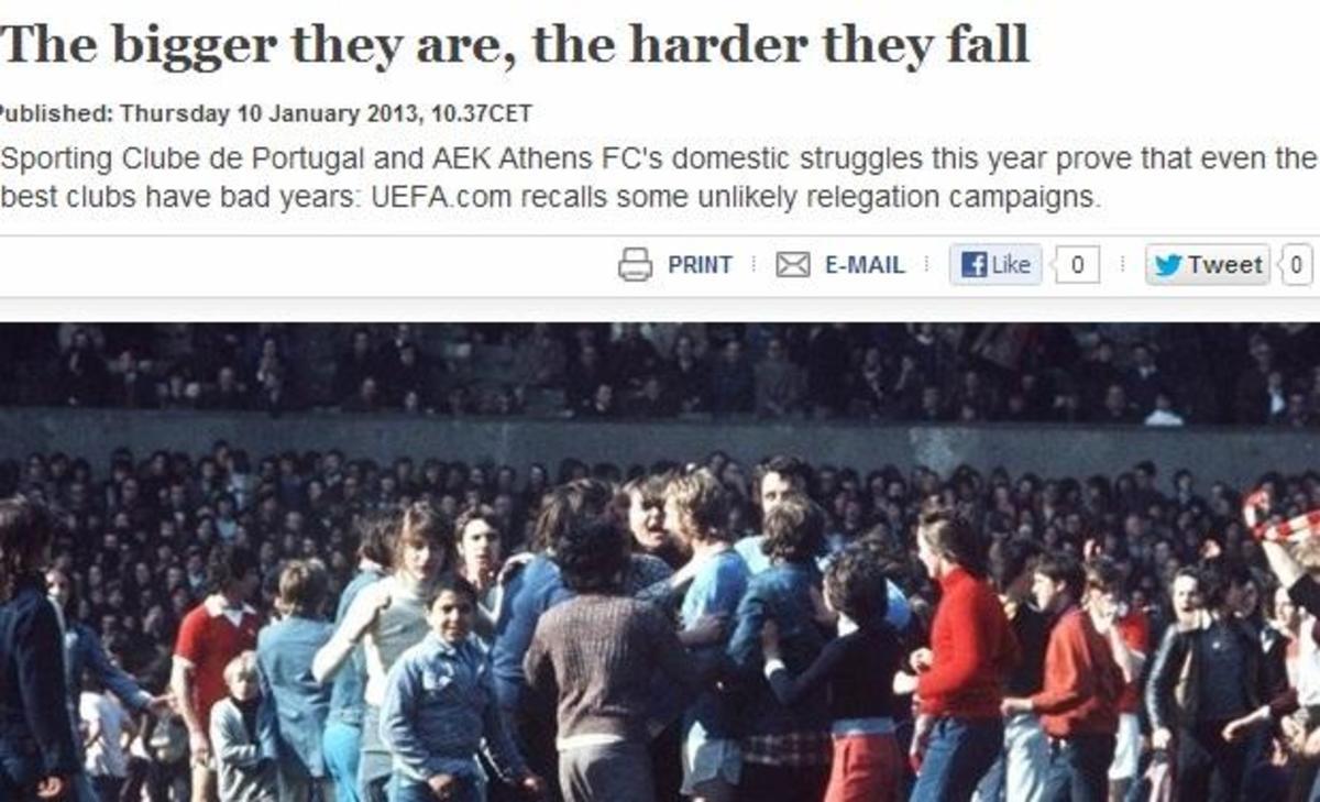 Η UEFA για τον κίνδυνο υποβιβασμού της ΑΕΚ | Newsit.gr