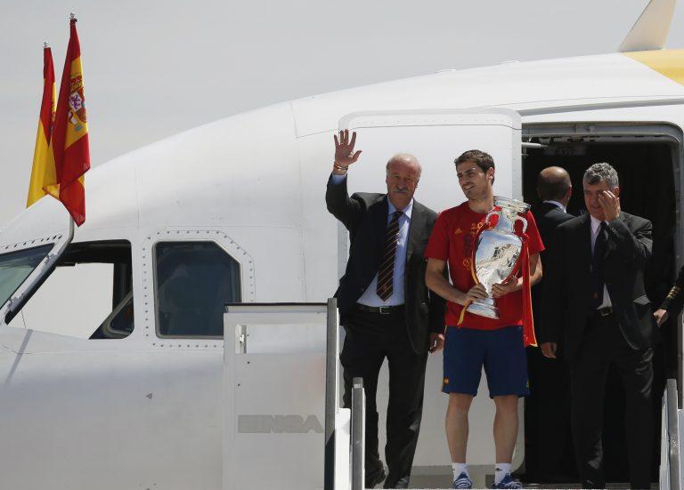 Η επιστροφή των θριαμβευτών στη Μαδρίτη – Δείτε ΦΩΤΟ | Newsit.gr