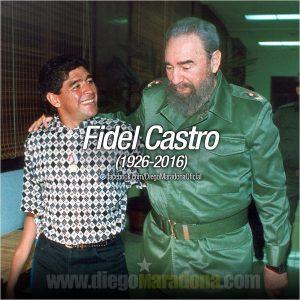 Fidel Castro: Ο Maradona συγκλονίζει στον αποχαιρετισμό