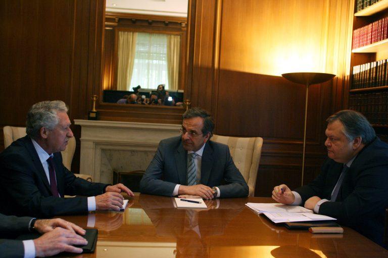 Σύσκεψη – σταθμός των τριών αρχηγών με φόντο την επίσκεψη Ολάντ, την ανεργία την απεργία και τον ανασχηματισμό   Newsit.gr