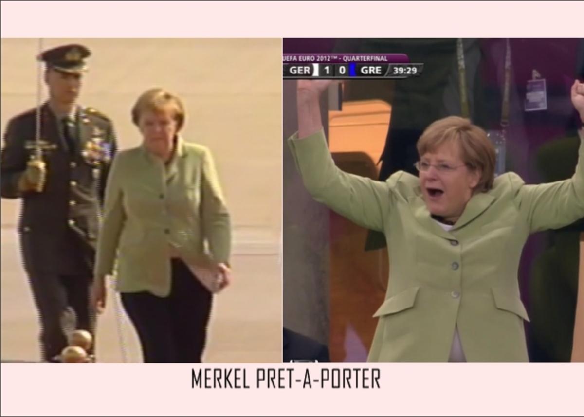 Μέρκελ: Ήρθε με το ίδιο σακάκι που φορούσε στον αγώνα Ελλάδας- Γερμανίας! Σε πόσα χρώματα το έχει; | Newsit.gr