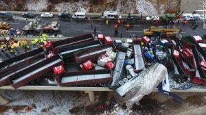 17 νεκροί σε καραμπόλα 56 αυτοκινήτων στην Κίνα