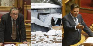 Κόντρα Μουζάλα – Βαρβιτσιώτη για τους πρόσφυγες που ξεπαγιάζουν