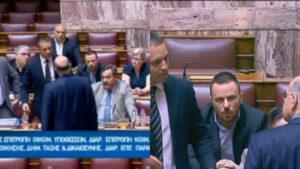 Επίθεση Κασιδιάρη σε Δένδια: Η τιμωρία του και το σόου ντροπής στην Βουλή [vid]