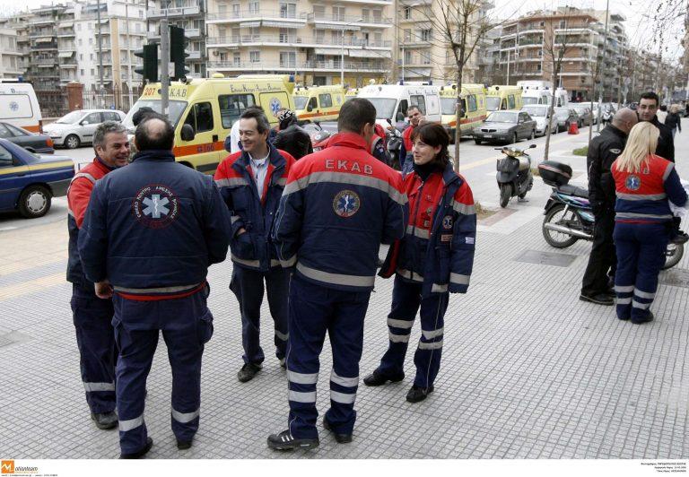 Θεσσαλονίκη: Στους δρόμους οι εργαζόμενοι του ΕΚΑΒ | Newsit.gr