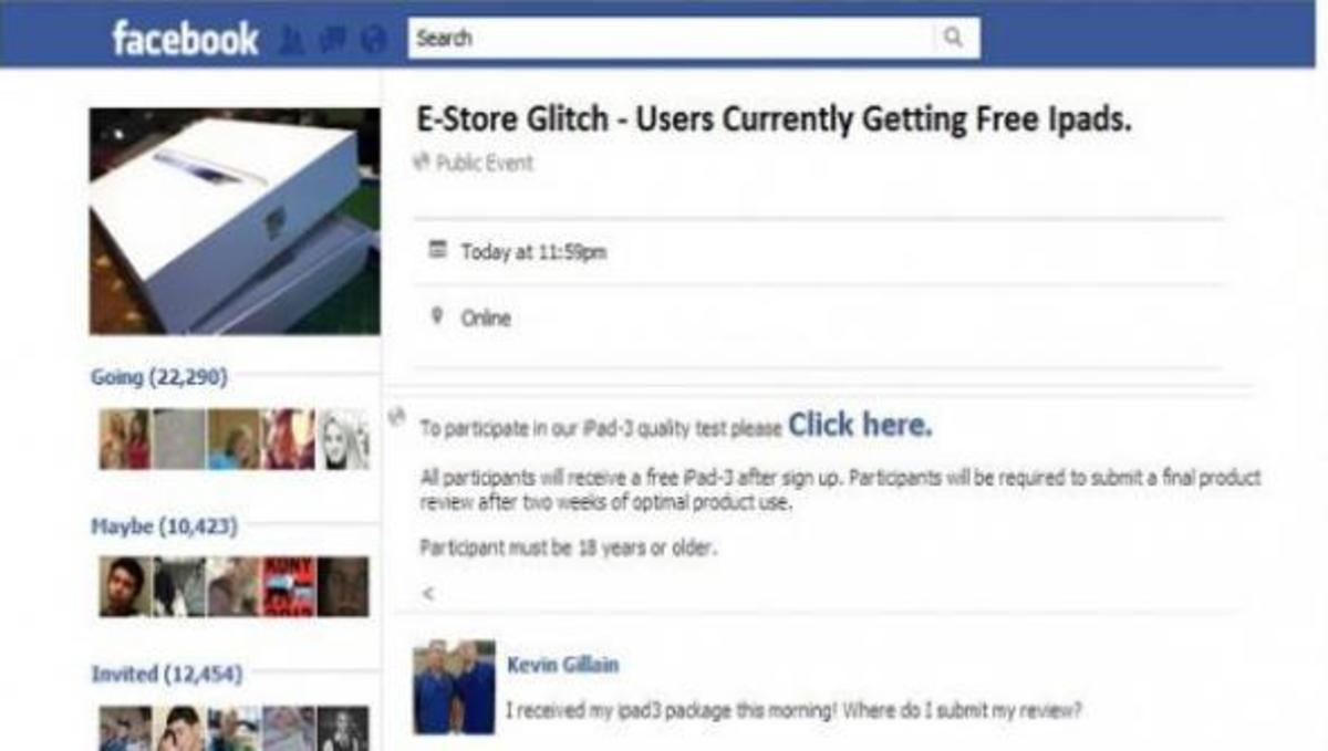 Νέα απάτη στο Facebook υπόσχεται δωρεάν iPad! | Newsit.gr