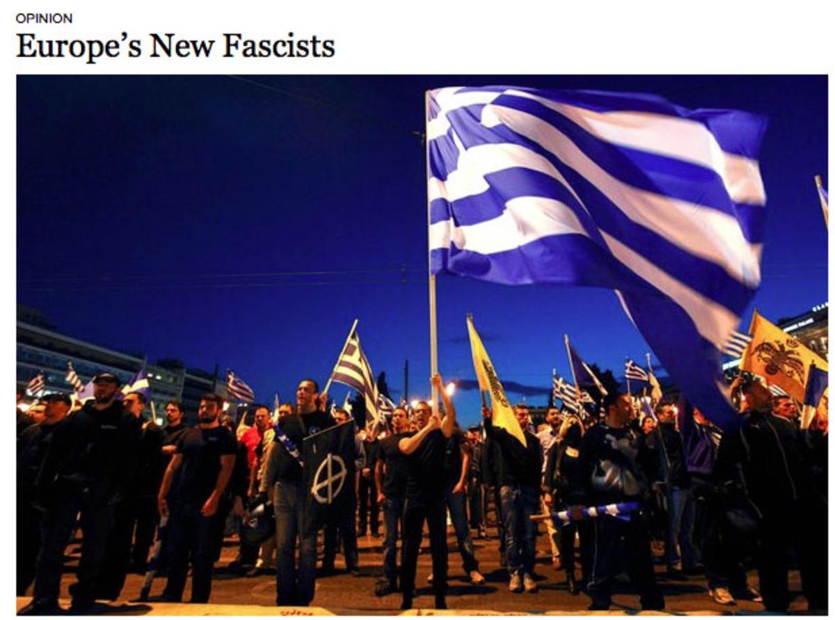 N.Y.T.: Οι νέοι φασίστες της Ευρώπης – Η Χρ.Αυγή ιδρύθηκε με εντολή Παπαδόπουλου   Newsit.gr