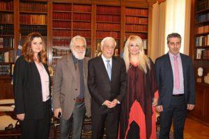 Με τον Πρόεδρο της Δημοκρατίας συναντήθηκαν στελέχη των Διεθνών Βραβείων Giuseppe Sciacca