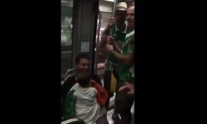 """ΕΙΝΑΙ """"ΘΕΟΙ""""! Ιρλανδοί οπαδοί νανουρίζουν μωρό σε τρένο (VIDEO)"""