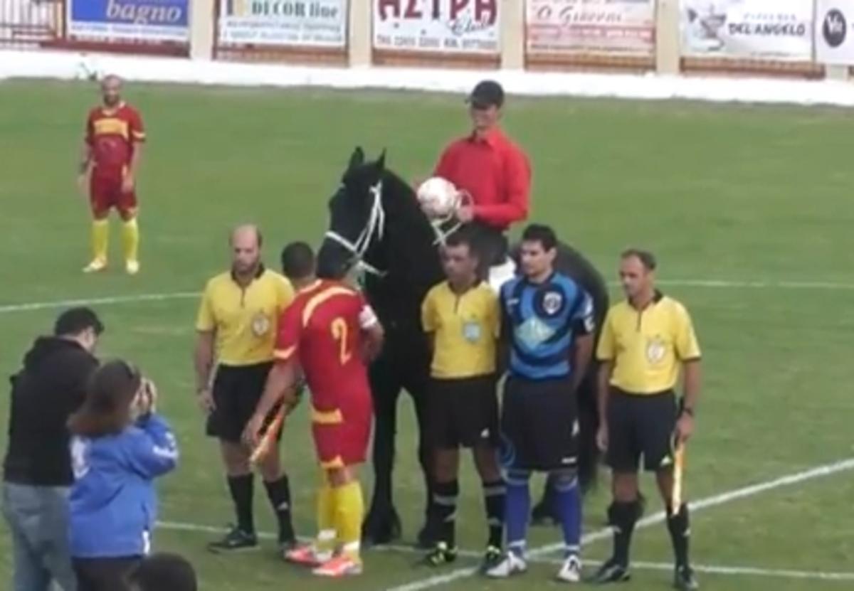 Μπήκε με άλογο στο γήπεδο επειδή η ομάδα…καλπάζει (VIDEO)   Newsit.gr