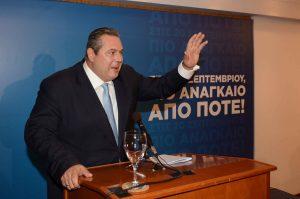 Αποτελέσματα εκλογών 2015 – Καμμένος: «Αν δεν μπούμε στη Βουλή αποχωρώ»