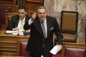 """""""Κάτσε κάτω ρε, να απολογείσαι πρέπει """" – """"Σκοτώθηκαν"""" Καμμένος – Θεοχαρόπουλος στη Βουλή"""