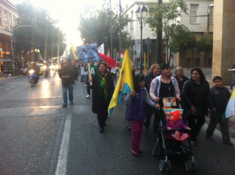 Πορεία Κούρδων προς την τουρκική πρεσβεία   Newsit.gr