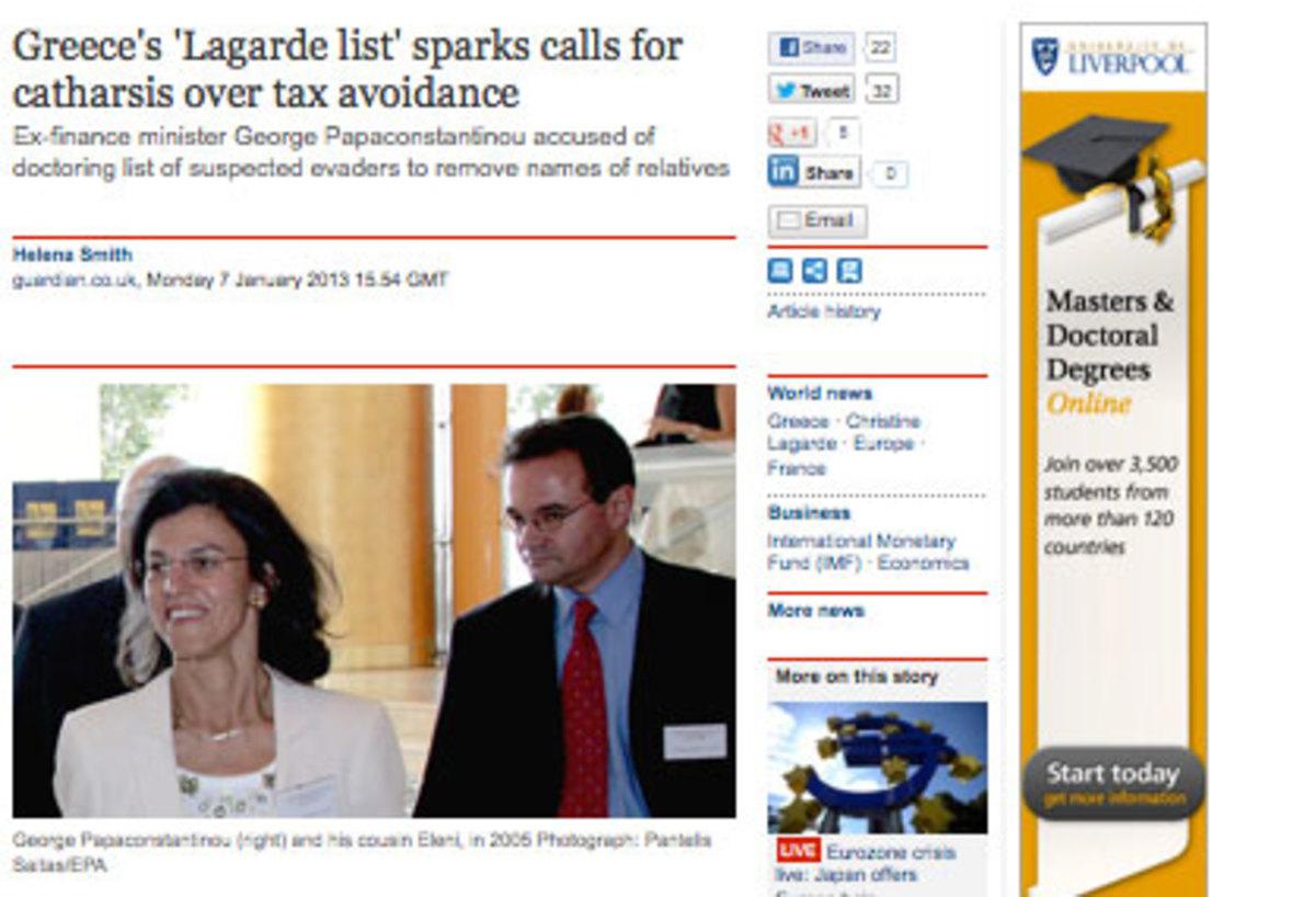 Ποιό ήταν το καυτό sms που έστειλε η Λαγκάρντ στον Παπακωνσταντίνου; | Newsit.gr