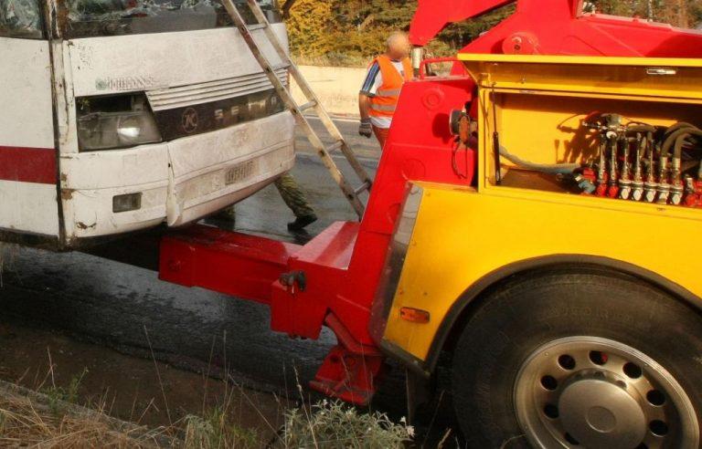 Αναποδογύρισε λεωφορείο στα ορεινά της Ξάνθης λόγω της βροχής | Newsit.gr