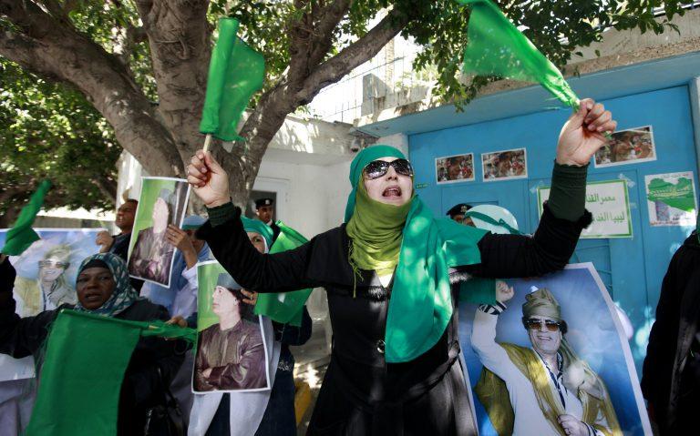 Διαδήλωσαν στην Τρίπολη υπέρ του Καντάφι   Newsit.gr