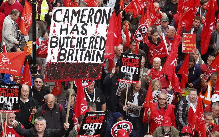 Χιλιάδες Λονδρέζοι στους δρόμους κατά της λιτότητας | Newsit.gr