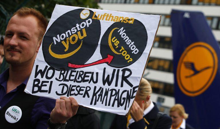 Απεργεί το ιπτάμενο προσωπικό της γερμανικής Lufthansa | Newsit.gr