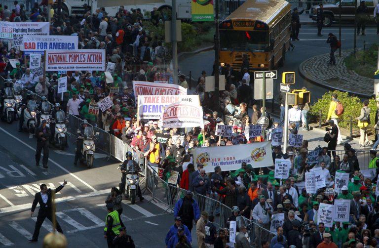 Διαδήλωση στη Ν.Υόρκη κατά των τραπεζών   Newsit.gr