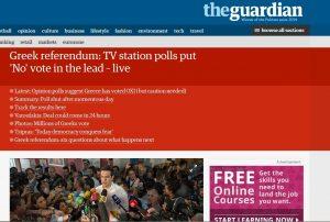 Δημοψήφισμα 2015: Τo προβάδισμα του «ΟΧΙ» στα διεθνή ΜΜΕ