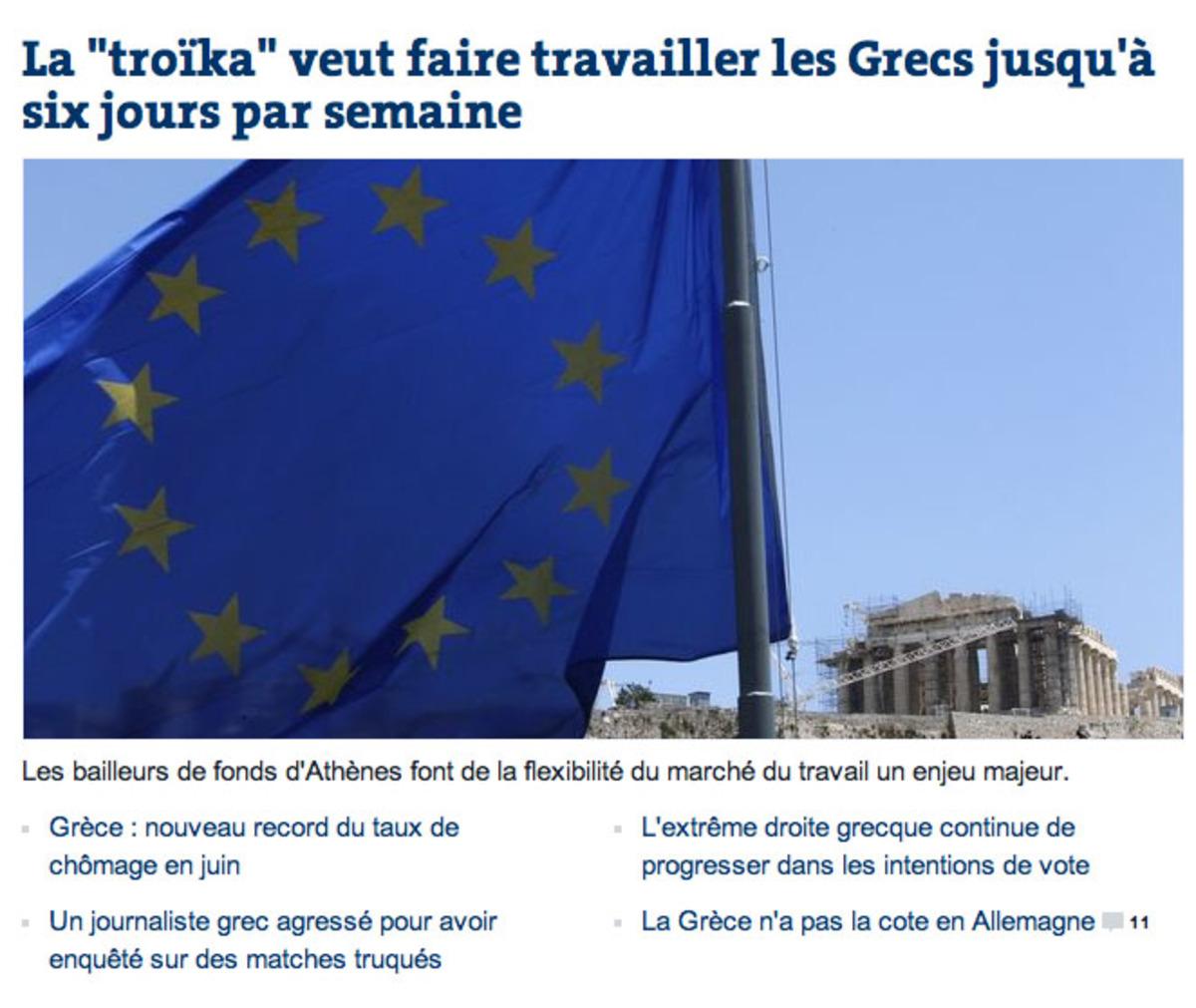 Πρώτο θέμα η Ελλάδα στη «Le Monde» – 6ήμερο, ανεργία και άνοδος της Χρυσής Αυγής | Newsit.gr