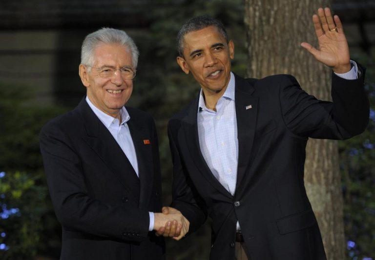 Τηλεφωνική επικοινωνία Μόντι – Ομπάμα – Μέρκελ «για την ενίσχυση της Ευρωζώνης» | Newsit.gr