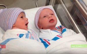 Θα σας φτιάξει τη μέρα! Γεννήθηκαν πριν μία ώρα και ήδη άρχισαν τις κουβέντες! [vid]