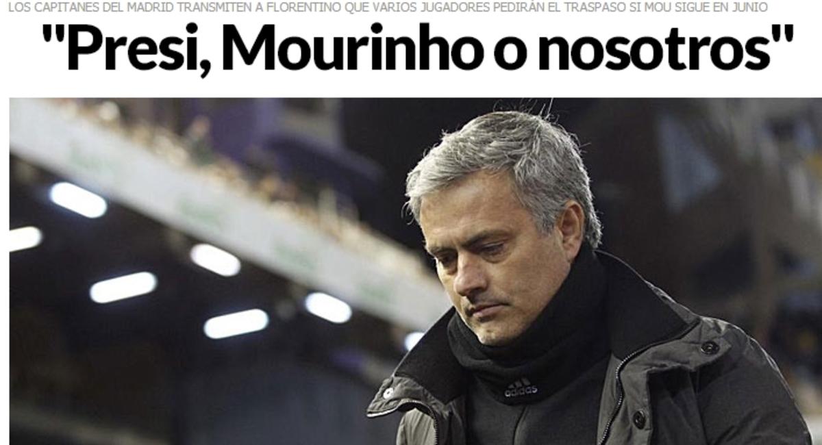 Μήνυμα των αρχηγών σε Πέρεθ: Εμείς ή ο Μουρίνιο! | Newsit.gr