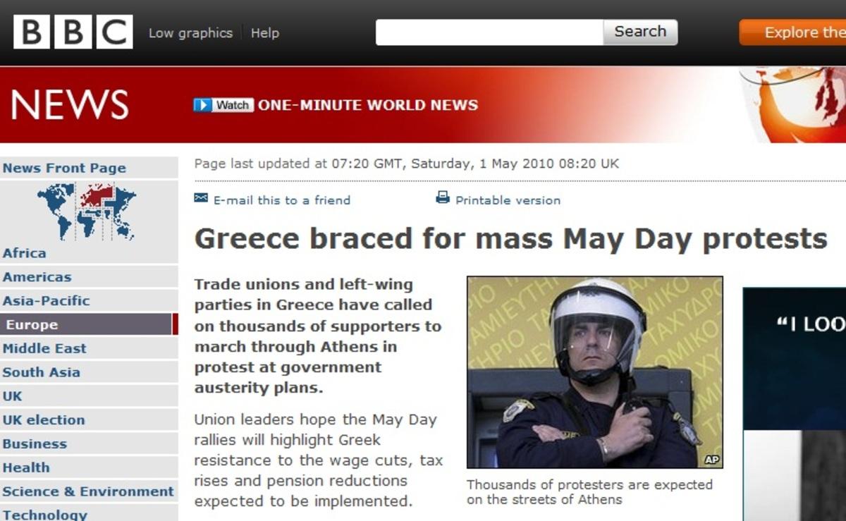 Τα διεθνή ΜΜΕ για την ελληνική Πρωτομαγιά | Newsit.gr