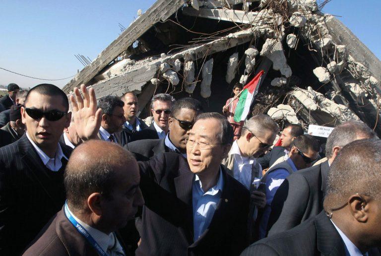 Ιστορική επίσκεψη Μουν στην αποκλεισμένη Γάζα | Newsit.gr