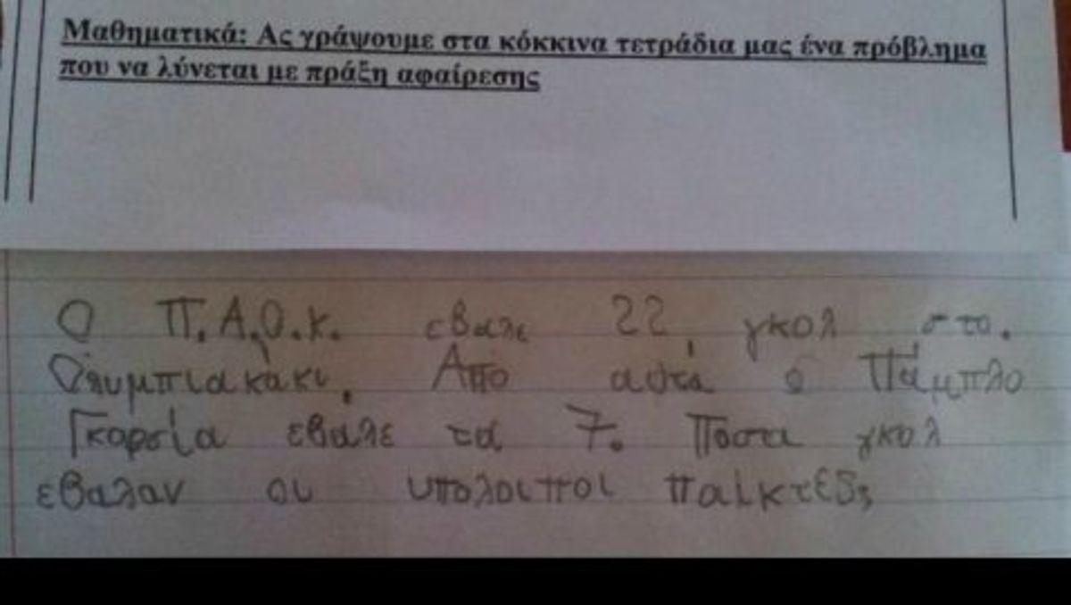 ΠΑΟΚ και στα Μαθηματικά! | Newsit.gr