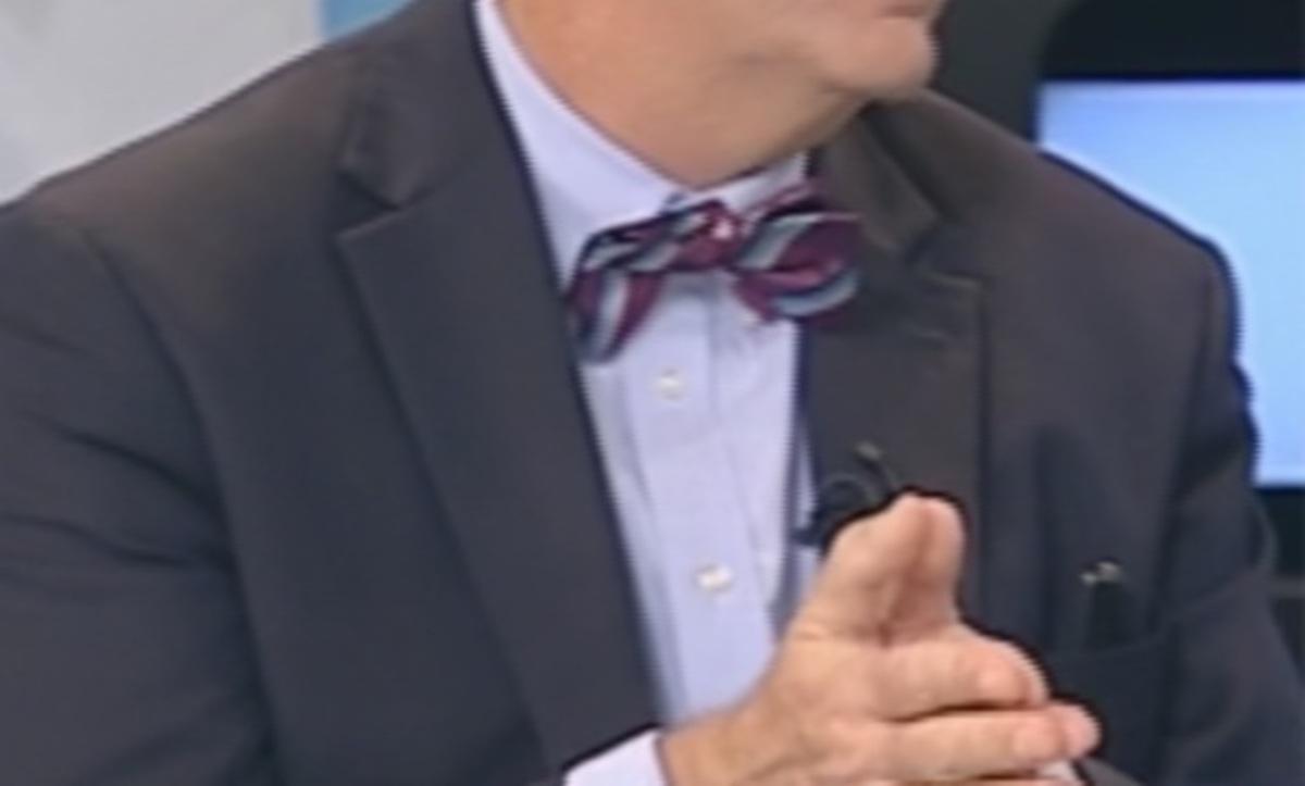Ποιος εμφανίστηκε με μοβ ριγέ παπιγιόν σε εκπομπή της ΝΕΤ; | Newsit.gr