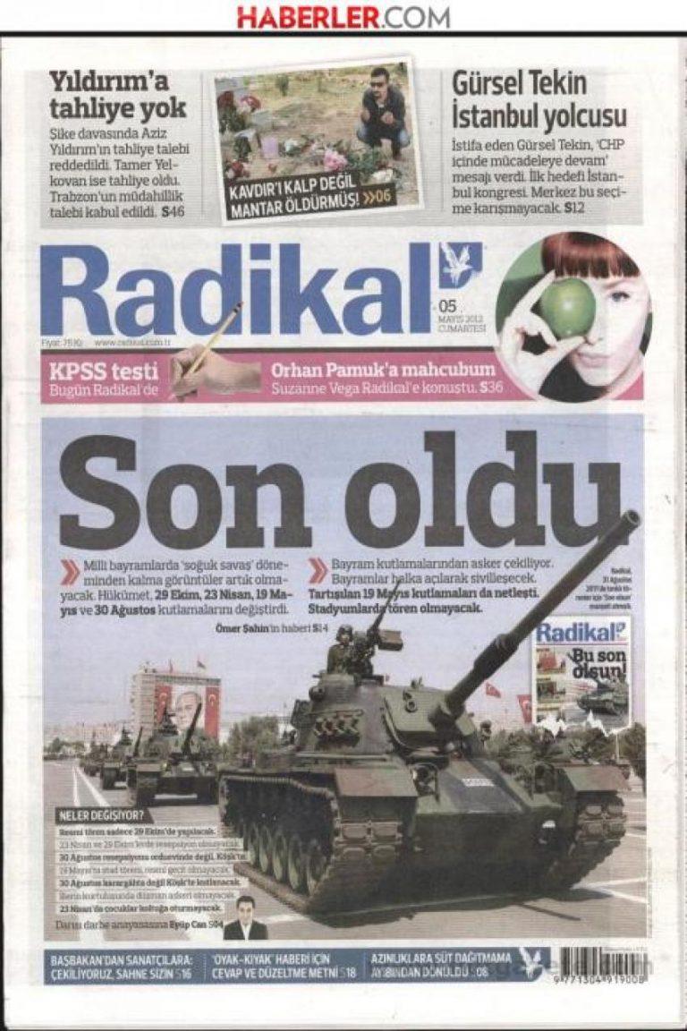 Καταργούνται όλες οι στρατιωτικές παρελάσεις στην Τουρκία – Ο Γκιουλ αλλάζει τα πάντα.   Newsit.gr