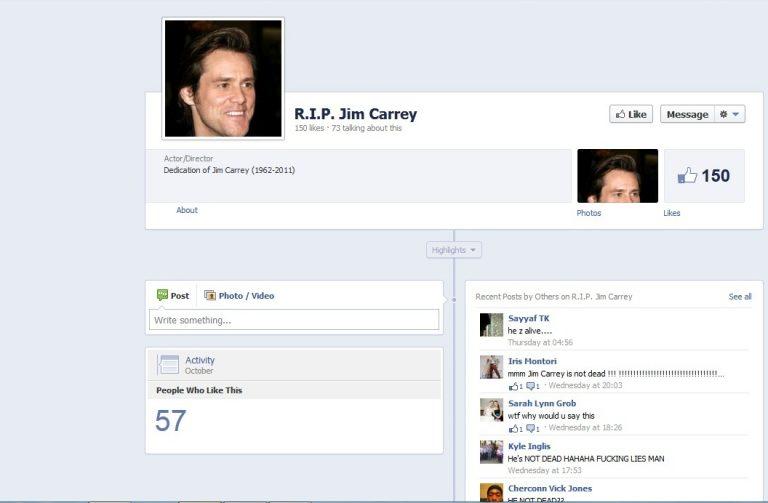 «Πέθαναν» τον Jim Carrey στο fecebook! | Newsit.gr