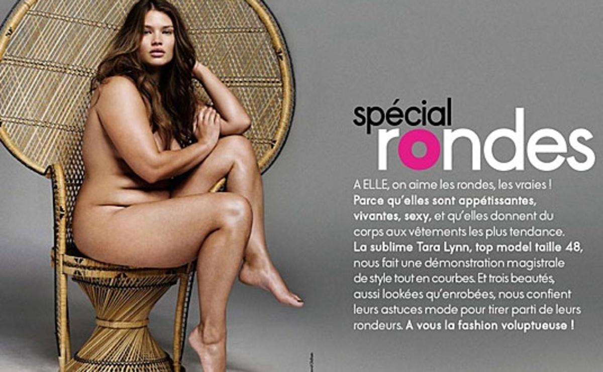 """Το γαλλικό Elle κάνει """"στροφή"""" στις παχουλές   Newsit.gr"""