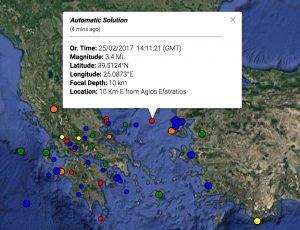 Σεισμός στον Άη Στράτη