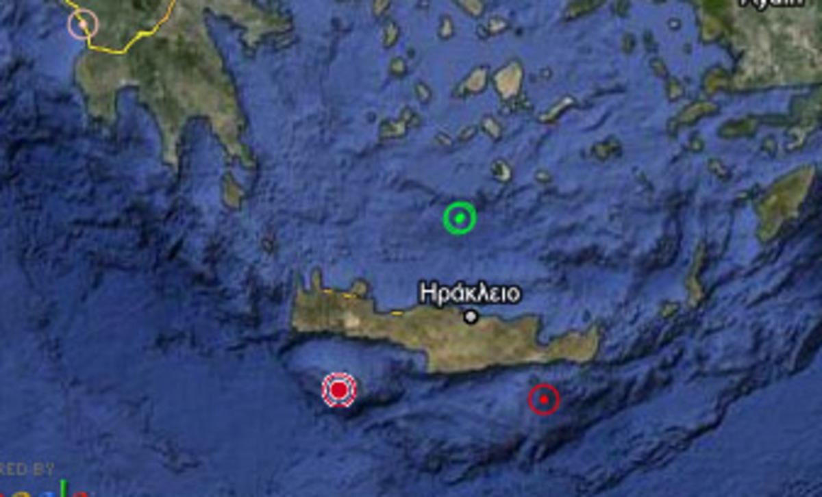 Τέσσερις σεισμοί μέσα σε μιάμιση ώρα στην Κρήτη   Newsit.gr