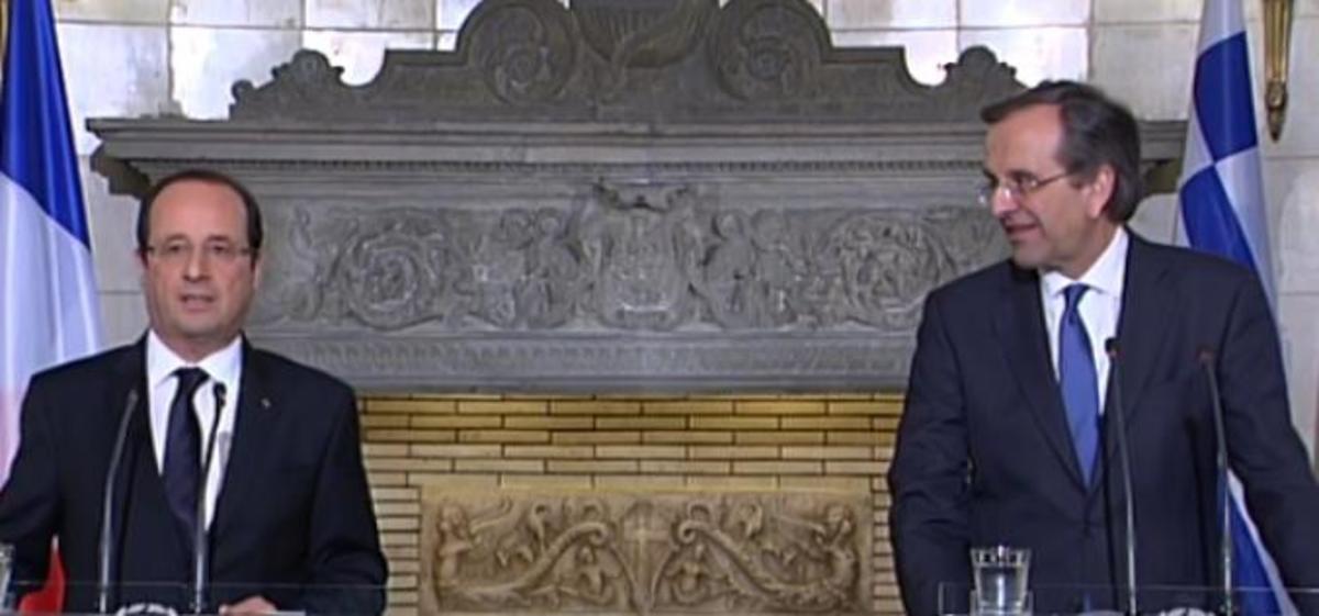 Σαμαράς: ο Γάλλος πρόεδρος σέβεται τις θυσίες του ελληνικού λαού – Ολάντ: δεν ήρθα να πουλήσω όπλα στην Ελλάδα | Newsit.gr