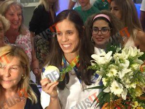 Kατερίνα Στεφανίδη: Στην Αθήνα η χρυσή Ολυμπιονίκης του επί κοντώ! Την υποδέχθηκαν στην Παλλήνη