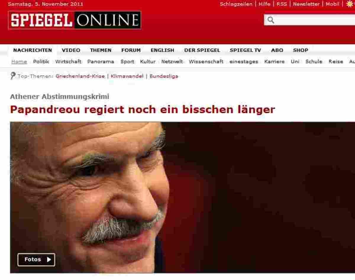 «Ο Παπανδρέου κυβερνά λίγο ακόμη…» Τι λένε τα ξένα ΜΜΕ | Newsit.gr