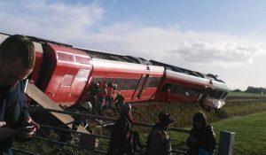 Εκτροχιασμός τρένου στην Ολλανδία – Πολλοί τραυματίες