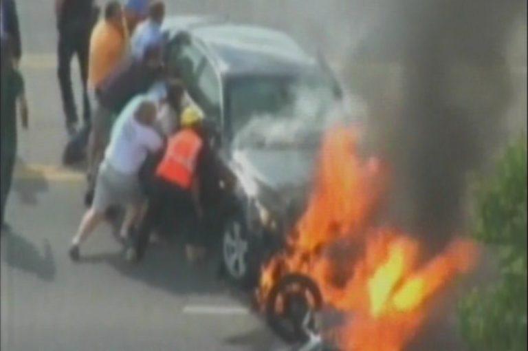 Συγκλονιστικές εικόνες από τροχαίο ατύχημα | Newsit.gr