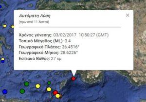 Σεισμός τώρα στη Ρόδο!