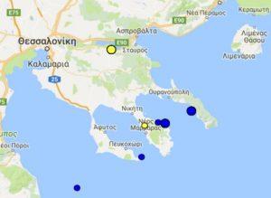Σεισμός στη Θεσσαλονίκη – Στη Βόλβη το επίκεντρο [pic]